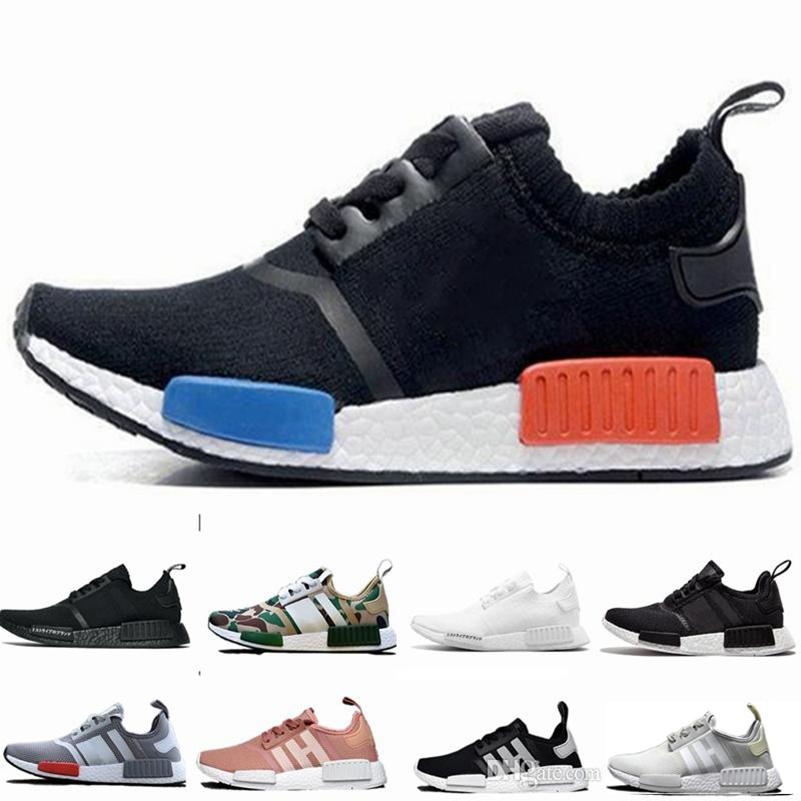 0c034d40a 2019 2017 NMD Runner R1 PK Primeknit White Red Blue NMD Runner Sports Shoes  Men Woman NMD Shoes Boost Running Shoes EUR 36 44 From Fsk xie01