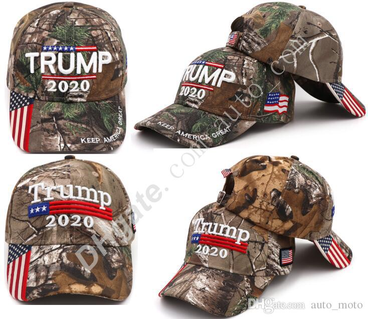 2 types High quality sun Hats Donald Trump 2020 baseball caps us presidential election hat camouflage Baseball Caps Adults Sport Hats