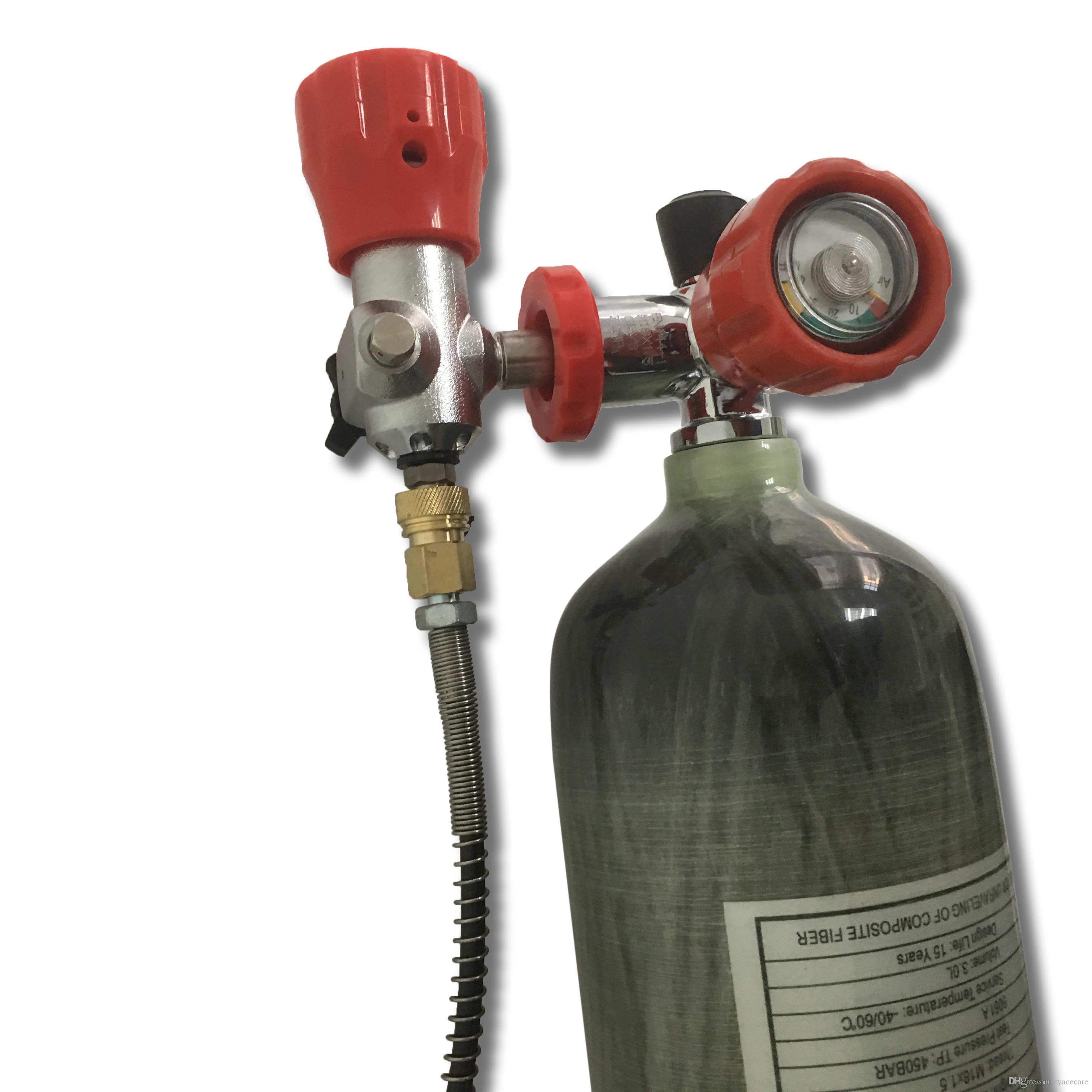 Acecare Russian HOT 3L 4500 psi Carbon Fiber SCBA Air Tank Cylinder for PCP  Hunting Filled by Compressor or Hand Pump