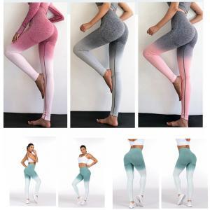 9611574732132 2019 Women Gradient Push Up Leggins Fitness Yoga Skinny High Waist Elastic  Gym Sport Tights Pants Women Workout Bottoms Pants AAA1678 From B2b_baby,  ...