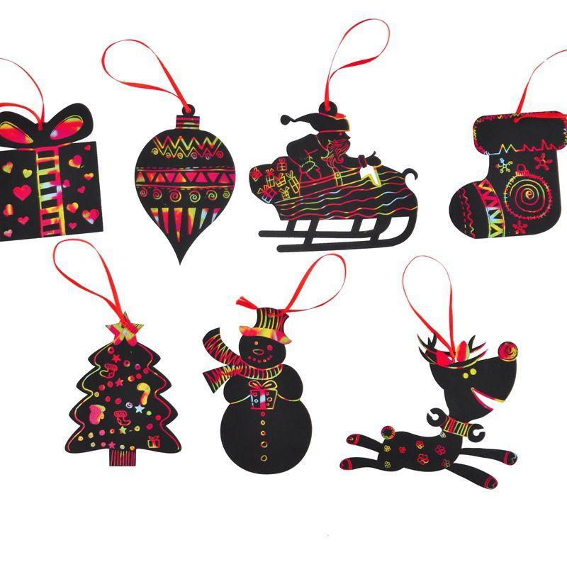 Satın Al Karalama Kartı Sihirli Renk Noel Ağacı Süsler Karalama