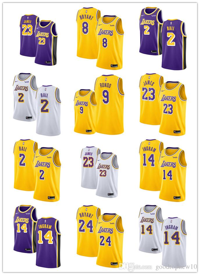 a9f9dad36 Los Angeles LeBron James Kyle Kuzma Lonzo Ball Bryant BRANDON INGRAM Laker  2018 19 Swingman Jersey Icon Edition Tea Shirt Vintage Tee Shirts From  Shoes1126