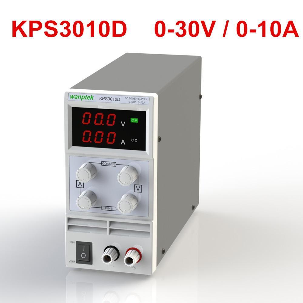 Mini DC Power Supply Switching Display 3 Digits LED 0-30V 10A Precision Variable Adjustable AC 110V/220V 50/60Hz
