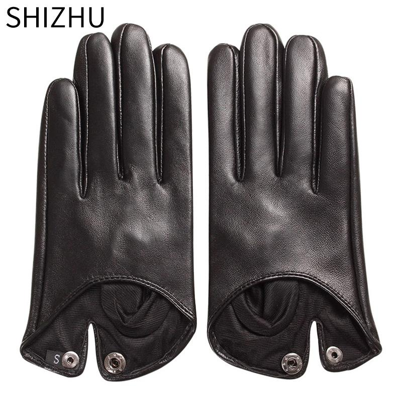 1b2669d7b7932 SHIZHU 2018 Women Winter Gloves Genuine Sheepskin Leather Female ...