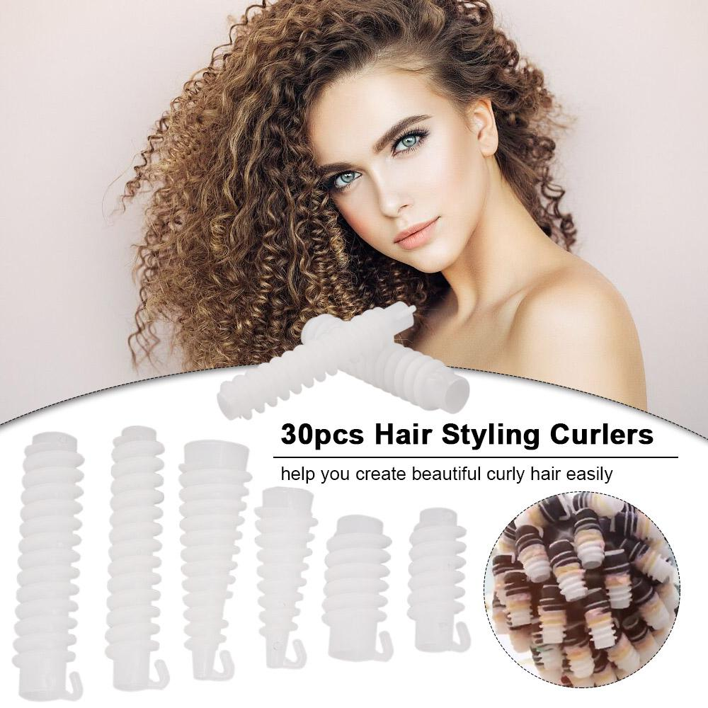 30pcs Hair Styling Curlers Hair Rollers Curlers Set Curling Tools for Wavy Maker Salon Styling Tools