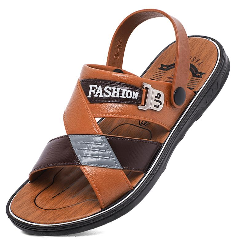 0741352d5f4 YRRFUOT Men s Fashion Casual Shoes Summer New Breathable Non-slip Flip Flop  Outdoor Men s Beach Shoes Adult Trend Sandals