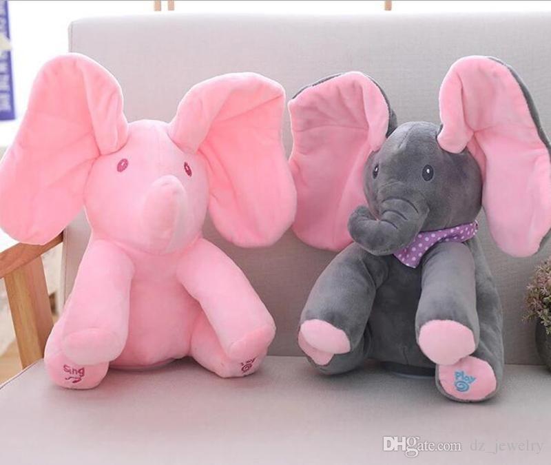 2019 New Style Peek A Boo Elephant Stuffed Animals Plush Elephant