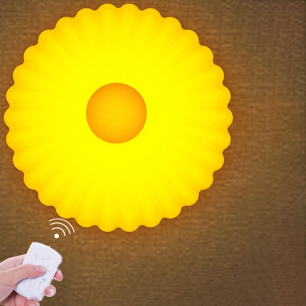 Bureau Télécommande Marguerite Forme Lampe Led Lumière Chevet Accueil Light De Petite Night Universel Intelligente Durable 6fbgY7y