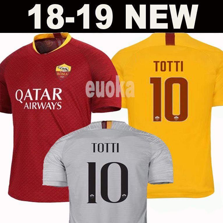 544a63c34 Novo 2019 DZEKO PEROTTI PASTORE ZANIOLO camisa de futebol roma 2018 TOTTI  camisa 18 19 kit de futebol camisa DE ROSSI JESUS como maillot de pé roma