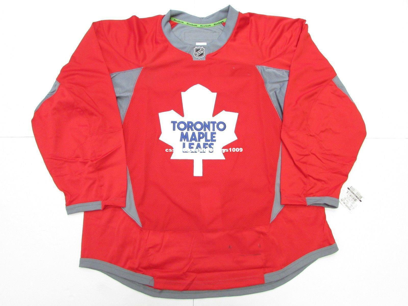 super popular c5d77 ada61 Cheap custom TORONTO MAPLE LEAFS RED PRACTICE HOCKEY JERSEY SIZE 56 stitch  add any number any name Mens Hockey Jersey XS-6XL