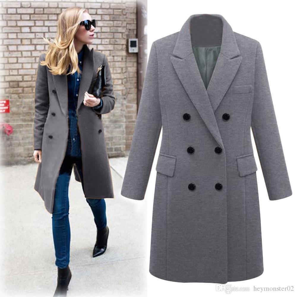 32806d47d2608 Plus Size 5XL Women Winter Long Coat Autumn Zipper Slim Outerwear Fashion  Patchwork Black Female Warm Windproof Overcoats Online with  32.0 Piece on  ...