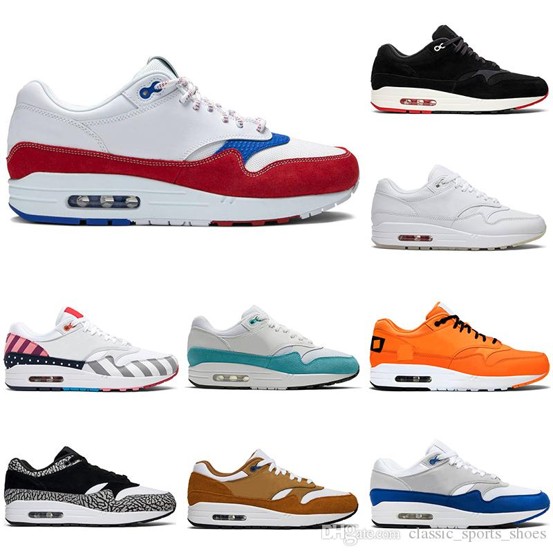 Nike air max 1 2019 Zapatillas de running 87 hombres mujeres 1 Puerto Rico Parra Bred University Blue royal 87s air mens entrenadores deportivos