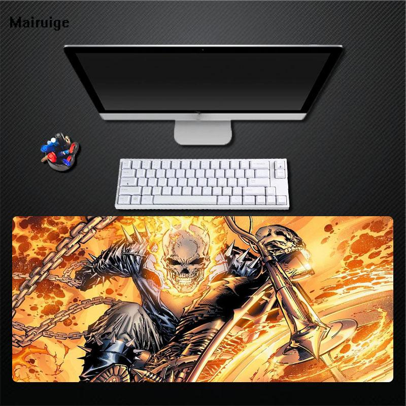 Mairuige Printing Ghost Knight Flame Pattern Large Size Rectangular Mouse  Pad Computer Player Desktop Mat Game Accessories