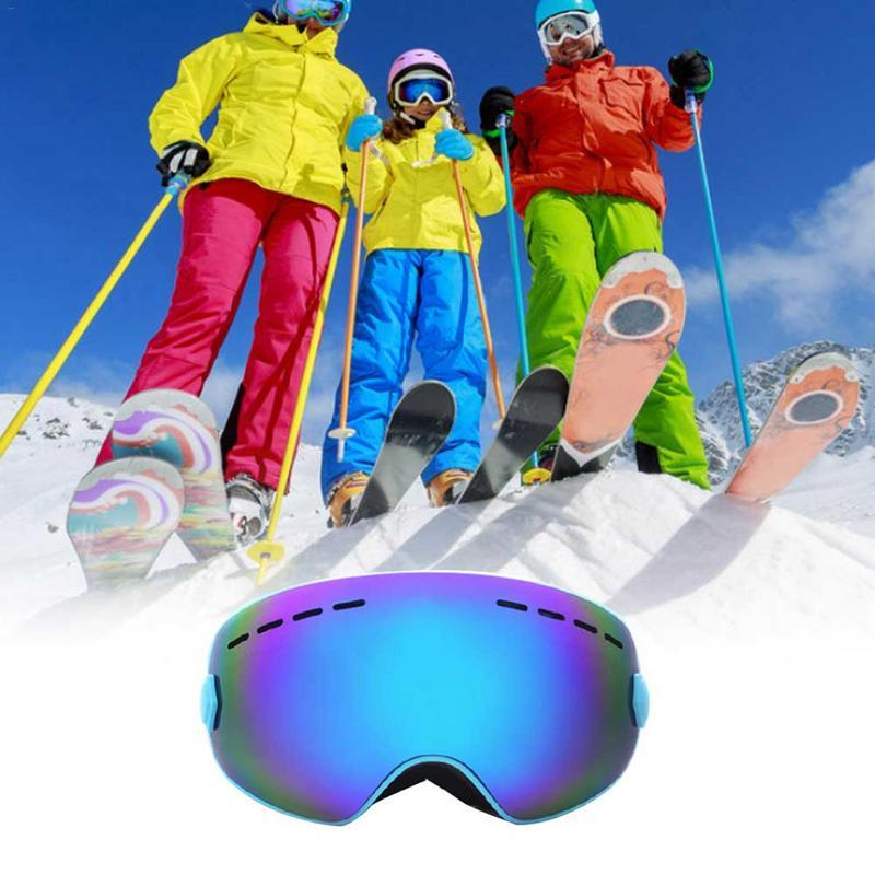 784bd79d69 Acheter Grandes Lunettes De Ski Sphériques Pour Enfants Double Couche Anti  Buée Et Coupe Vent Huit Couleurs Miroir Carte Myopia Large Field De $34.13  Du ...