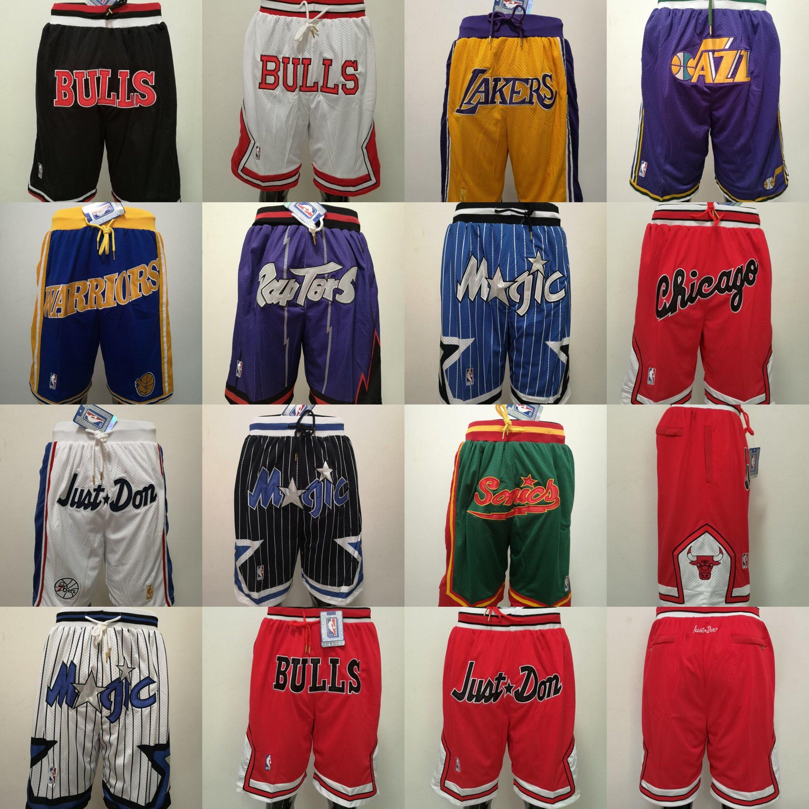 Just Don Shorts Chicago Golden 1State Bulls Warrior Miami Orlando  Philadelphia Utah 76ers Washington Los Angeles Bullets 2451