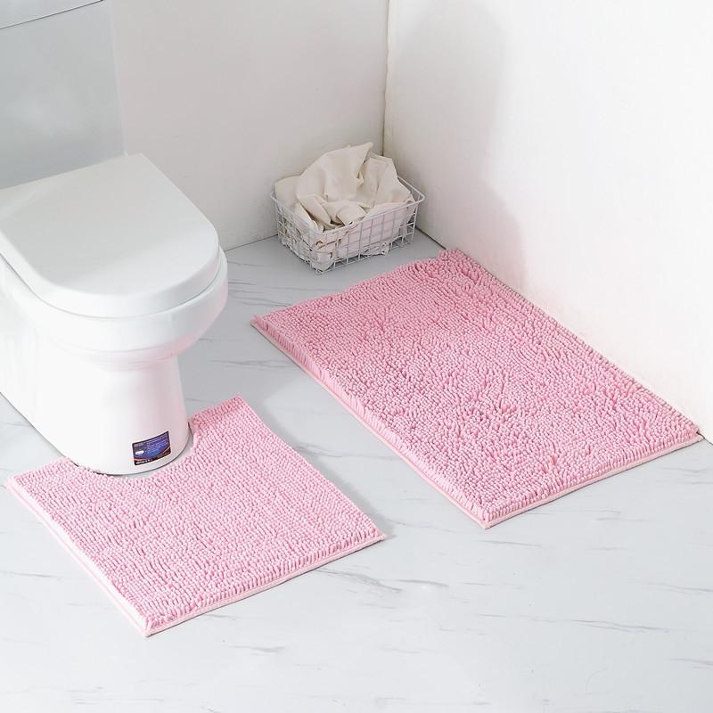 Original Shaggy Chenille Bathroom Rug Set Soft Great Absorbent Machine Washable Fast Dry Bath Rug For Shower Room Industrial Carpet Broadloom Carpet From ...