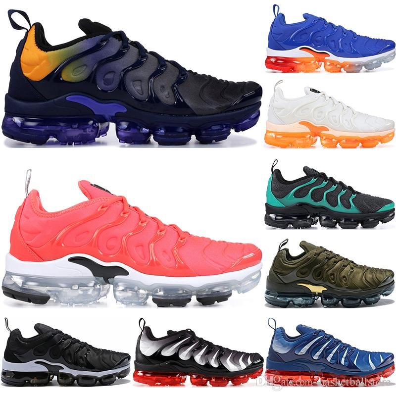check out 50a78 26d4c Nike Air Vapormax TN Plus Hombre Zapatillas De Running Bright Crimson EE.  UU. Uva Roja Violeta Azul Tropical Atardecer Triple Negro Blanco Rojo Para  Mujer ...
