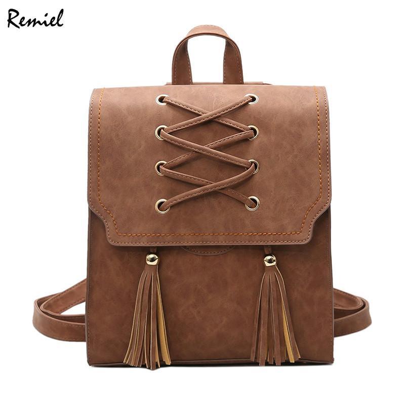 School Backpacks Style Fashion Women Backpack Bag 2019 Pu Leather Women  Backpack Retro Teenage Girl High Quality Travel Rucksack Black Backpack  Camera ... a4c748fe67557