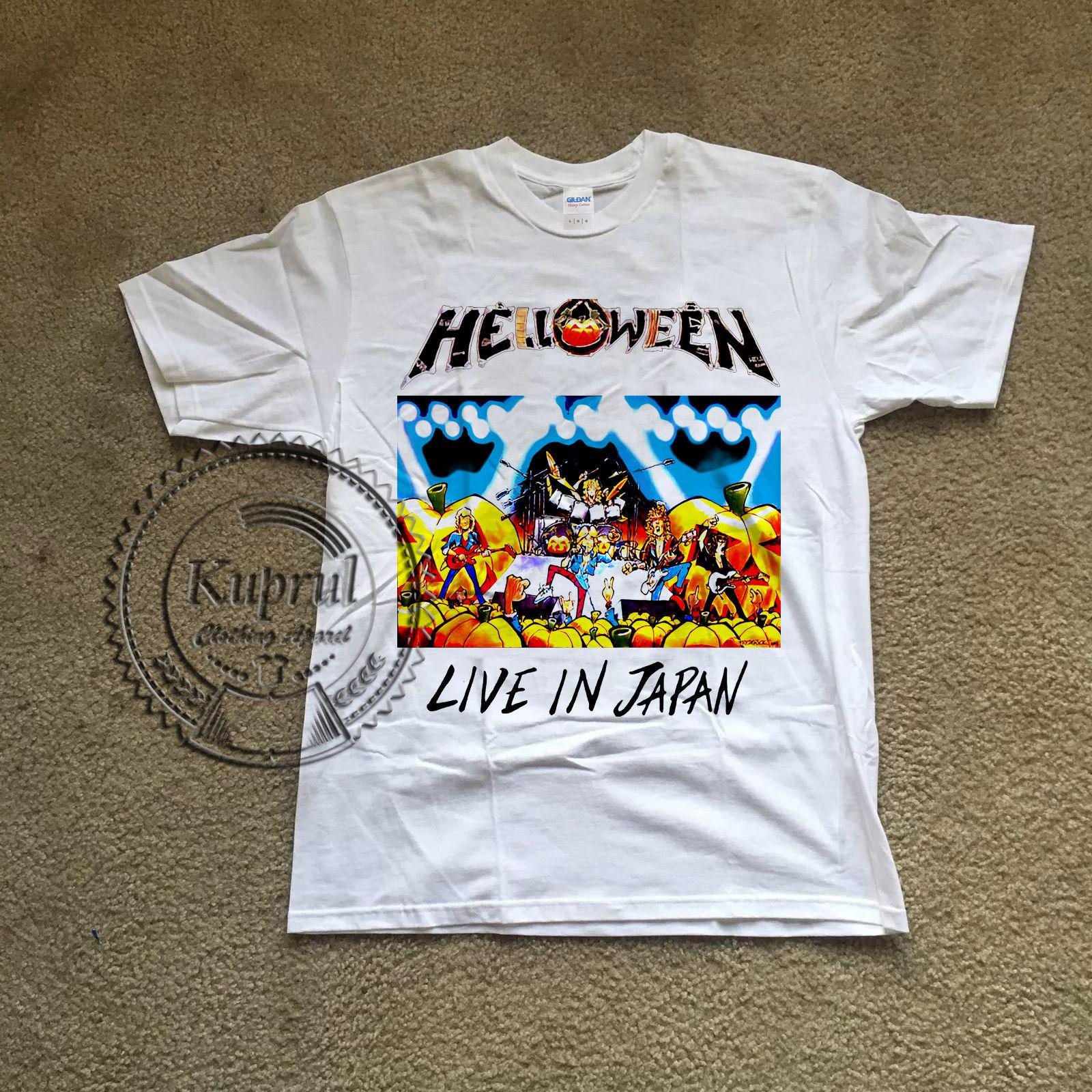 6075f8216 Vintage Helloween Shirt Live In Japan Tour 88 89 Reprint Cheap Tee,2019 Hot  Tees Fashion Style Men Tee Mens Tee Shirts Shirts And Tshirts Tee Shirts  Sale ...