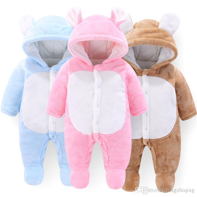 5e34620d914c Ins Cute Autumn And Winter Models Baby Quilted Padded Jumpsuit ...