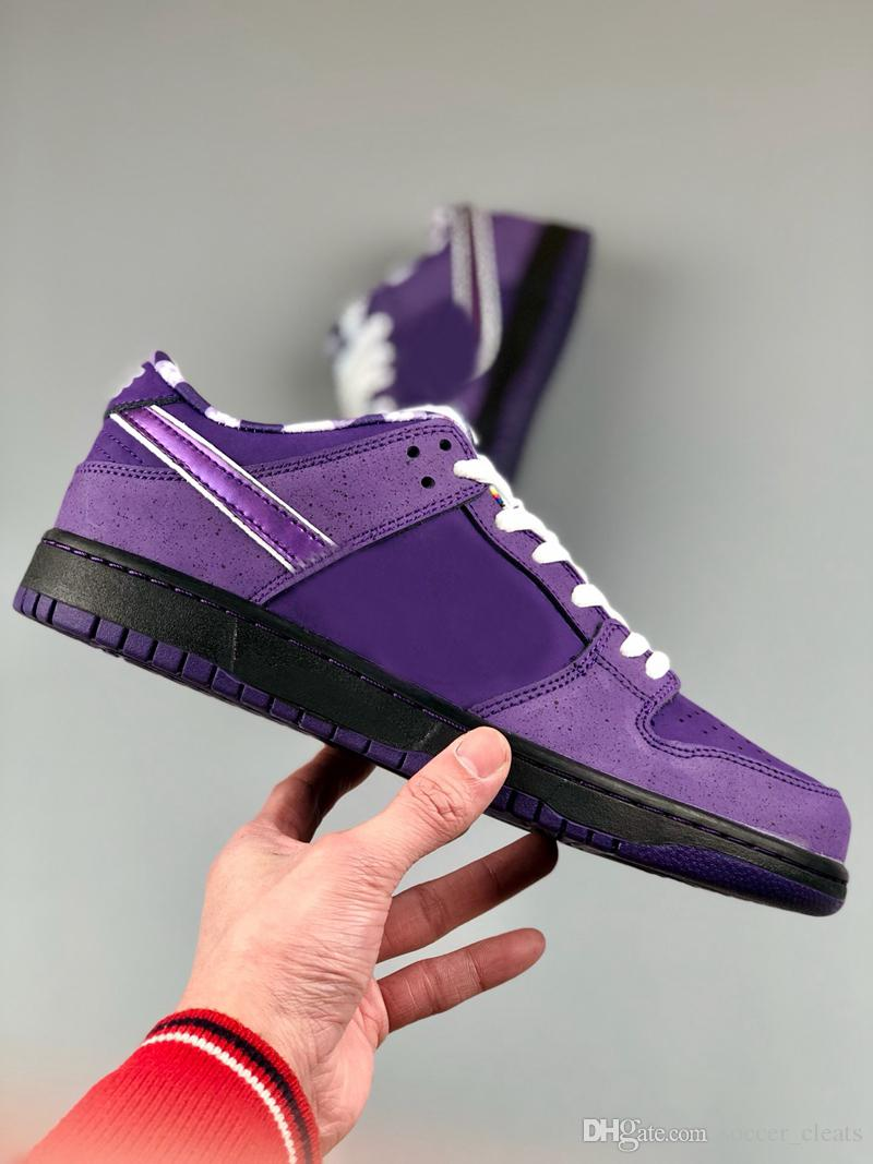 6257b19dab5 2019 Designer SB Dunk Low Running Shoes For Men Womens Breathable Sneakers  Trainers Pro QS CNPTS Purple Lobster Dunks Mens Sports Schuhe 36 45 From ...