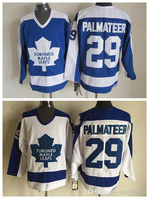 new product 59cf6 7f136 Top Quality Mens #29 Mike Palmateer Jerseys Cheap Vintage Toronto Maple  Leafs Jersey 29 Mike Palmateer Hockey Jerseys Stitched Shirts