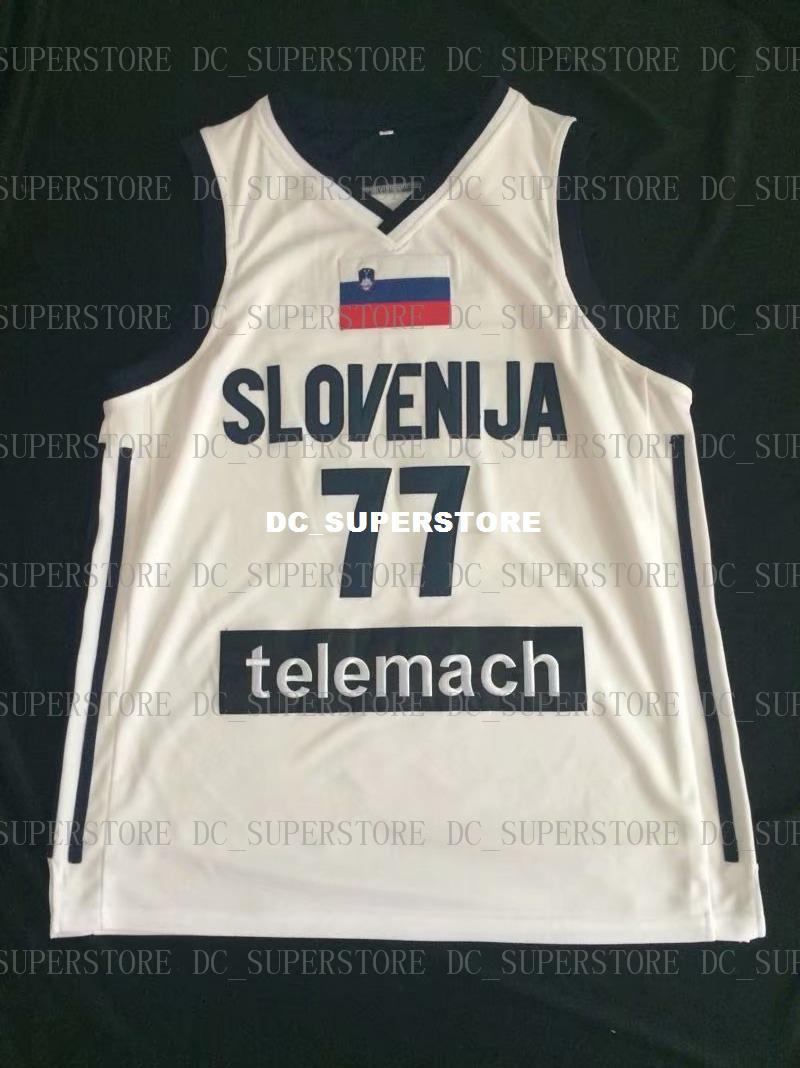 Cheap Luka Doncic  77 Stitched Slovenia National Jerseys 2018 Drafts High  Quality Luka Doncic Jersey Basketball Jersey Basketball Jersey Online with  ... 27a8c7ca8