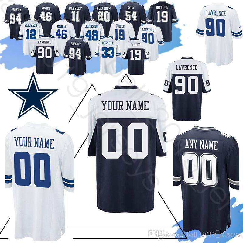 buy popular 8e741 41593 Ezekiel 21 Elliott Cowboys Custom jerseys 8 Troy Aikman Smith 5 Bailey 46  Morris 10 Switzer 13 Gallup 70 Martin jersey