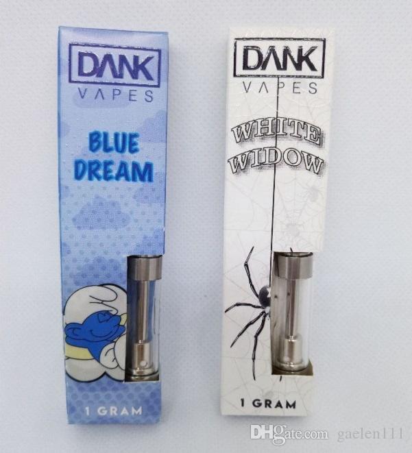 Dank Vapes Cartridge Pack 510 Thread 0 5ml 1ml 1 Gram Ceramic Coil Vape  Carts 2mm Intake Hole for Thick Oil Vaporizer Atomizer
