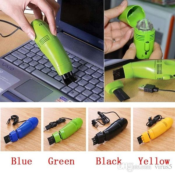 USB Vacuum Keyboard Cleaner Brush For PC Laptop Computer Air Fans Monitor Brush Random Color