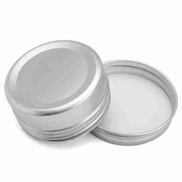 70pcs 60ml métal étain en acier plat en métal argenté bocaux pots vides glissade glissière récipients ronds en étain avec couvercle scellé à visser Twist scellé