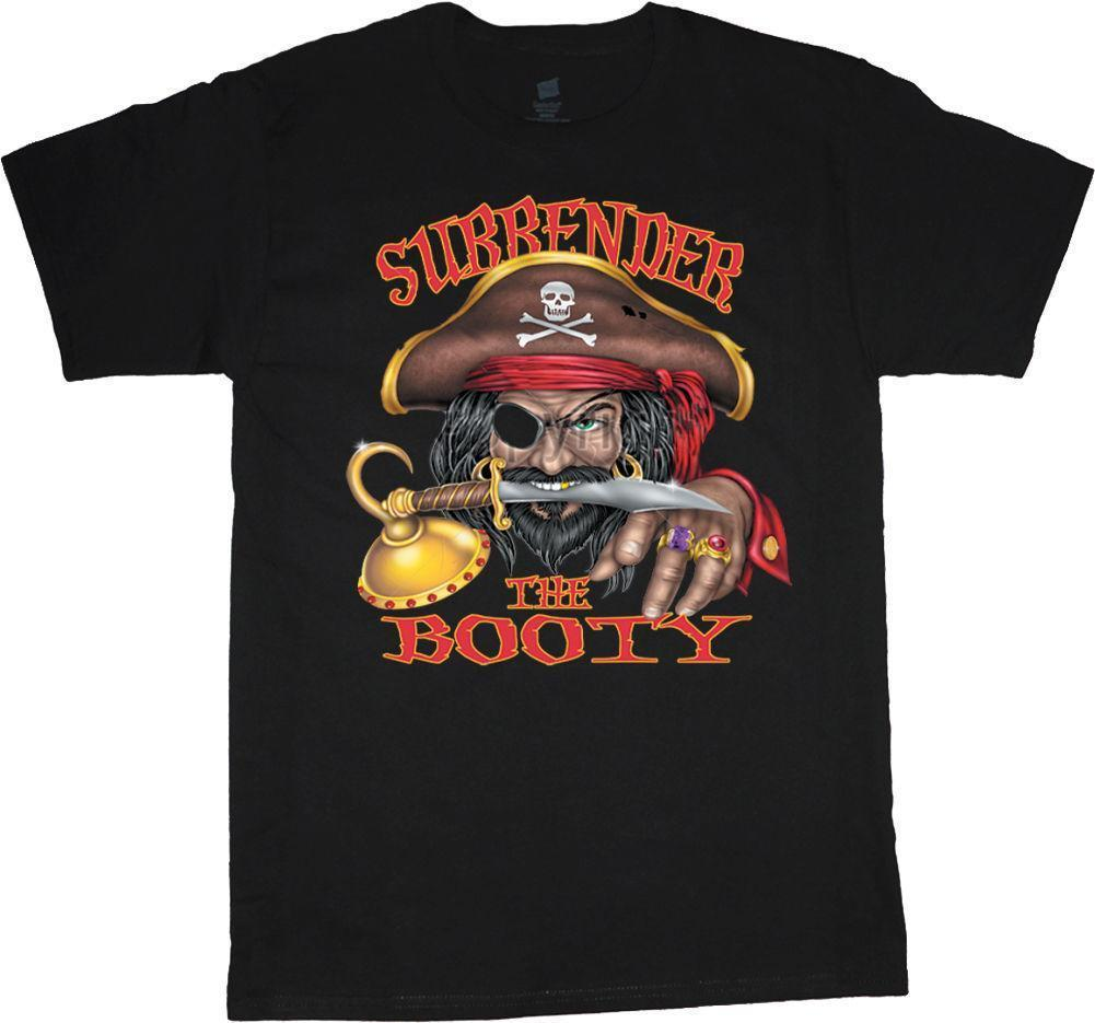 7ffc338773 Surrender the booty funny pirate t-shirt funny men's t-shirt tee custom t  shirts t shirt design funny t shirts customized shirts