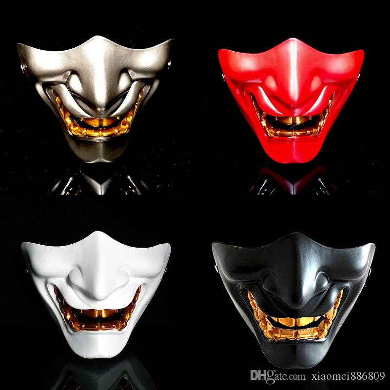 2019 Grimace Devil Scary Half Face Mask Adults Halloween