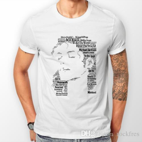 4cace98e T Shirts & Hoodies Unisex WHITE Michael Jackson Music/Memorabilia FREEPOST  UK Funny T Shirts Online Hilarious T Shirts From Rockfres, $10.19|  DHgate.Com
