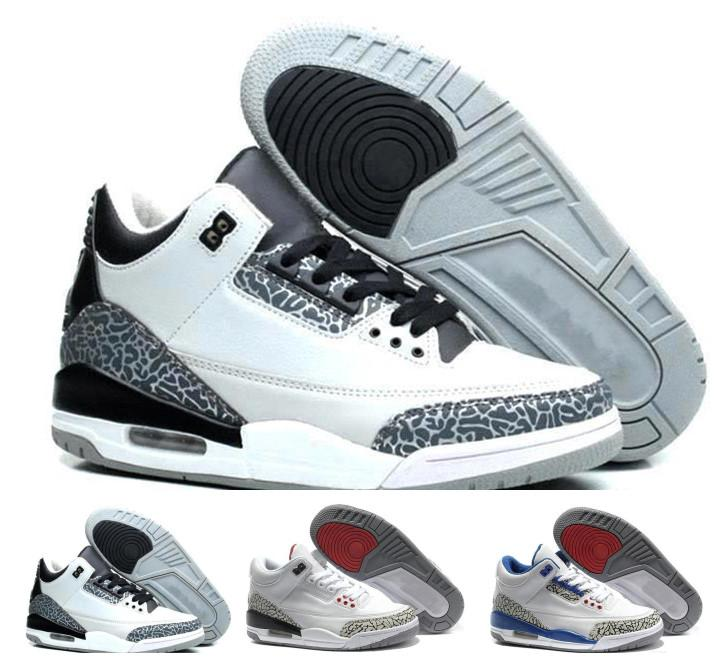 newest d103d 3dfae Retro white black cement 2018 infrared 23 wolf grey basketball shoes  sneakers for men 3 3s Good Quality Version US size 8-13