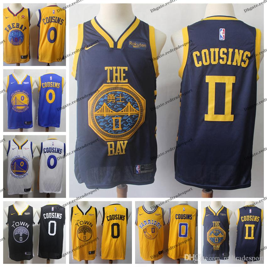new product 28884 502dd 2019 Earned #0 Golden DeMarcus Cousins Warriors Edition Basketball Jerseys  Cheap City DeMarcus Cousins Edition Stitched Shirts S-XXL