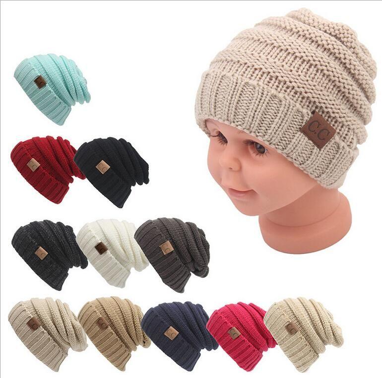 Acheter Enfants Hiver Garder Au Chaud Cc Bonnet Étiquetage Chapeaux Laine  Tricot De Laine Chapeau De Concepteur Chapeau Sports De Plein Air  Casquettes Pour ... d3689a73a71