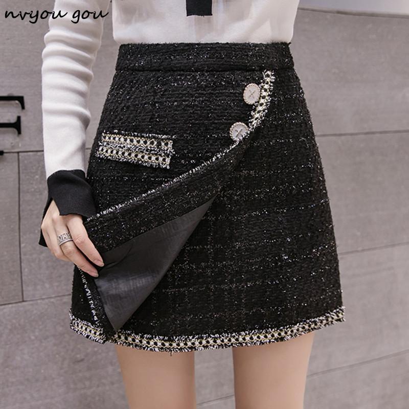 d78f86be882a 2019 Wholesale Irregular High Waist Mini Skirt 2019 Women New Spring Plaid  Casual Short Bodycon Skirt Office Lady Elegant Wear From Clothesg119, ...