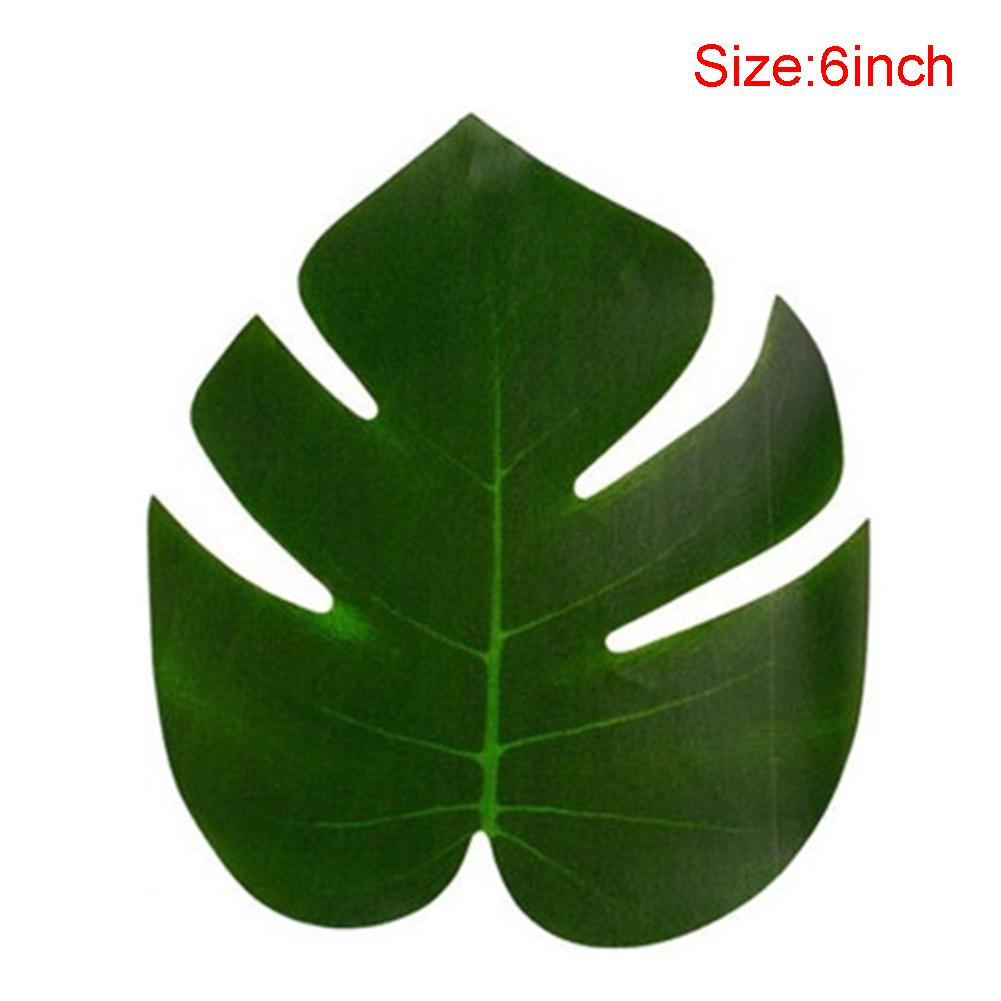 36pcs/pack Birthday Table Decorations Prop Kinds Jungle Party Artificial Plant Fake Leaves Home Green Beach Ornament Garden DIY