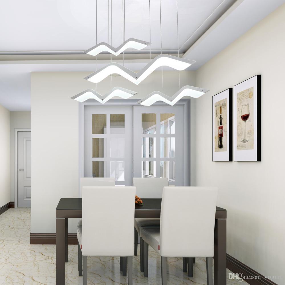 Acquista Moderno LED Lampadario Sala Da Pranzo Rettangolo Cucina ...