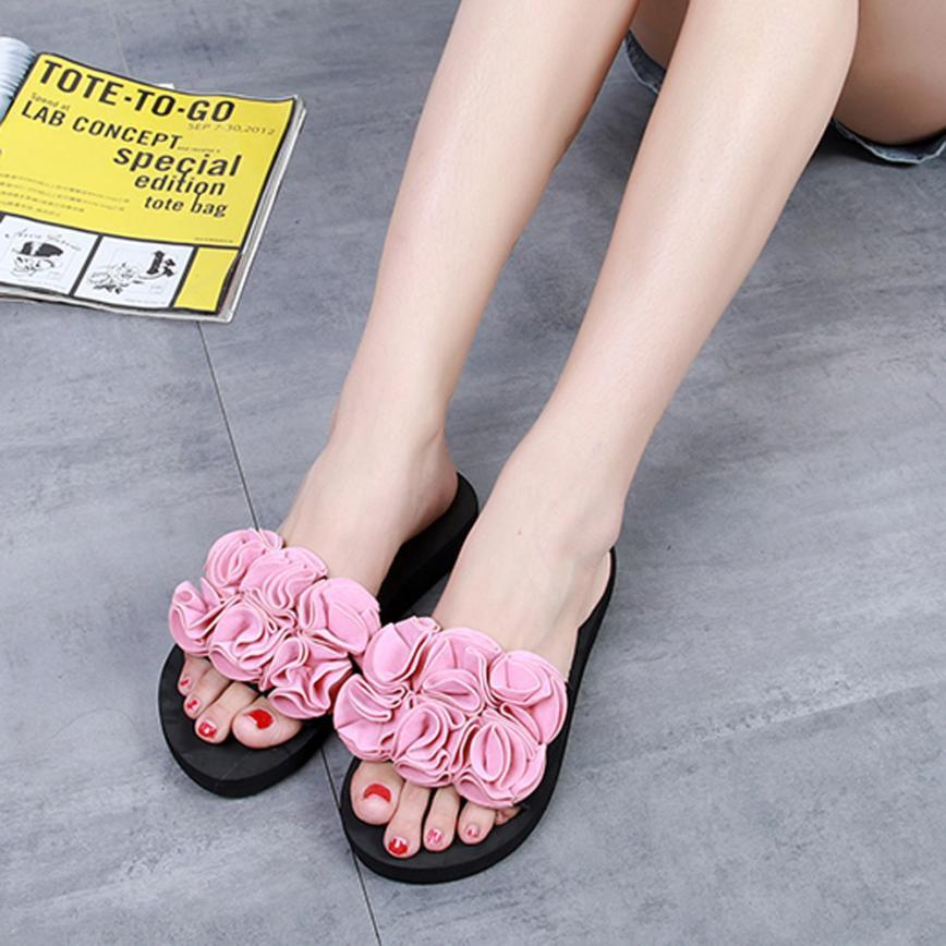 526442930aa3d1 SAGACE Shoes Flip Flops Women Flower Summer Sandals Slipper Indoor Outdoor  Beach Shoes Casual Women 2018MA11 Moccasins For Men Shoe Sale From  Ajkobeshoes