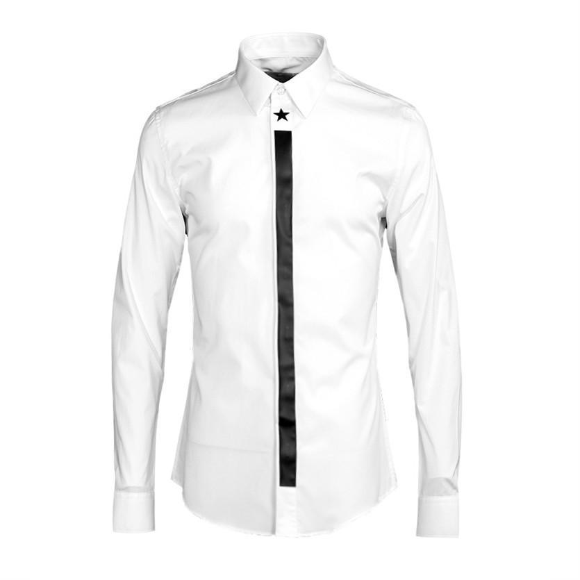 1ec3921b03 Compre Novo Design Sólido Branco Camisa De Manga Longa Homens Marca  Primavera Roupas Casuais Mens Camisa Qualidade Camisas Confortáveis  masculino Chemise ...