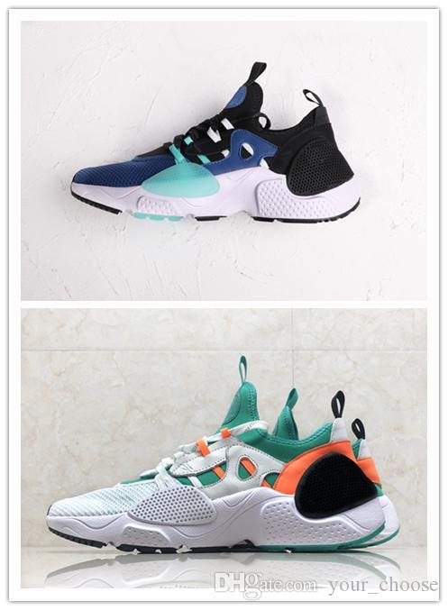 f7352d08f7cc4 2019 Latest Huarache E.D.G.E TXT QS Running Shoes Aurora Green Blue Men s  And Women s Outdoor Sports Shoes Huarache Online with  159.98 Pair on ...