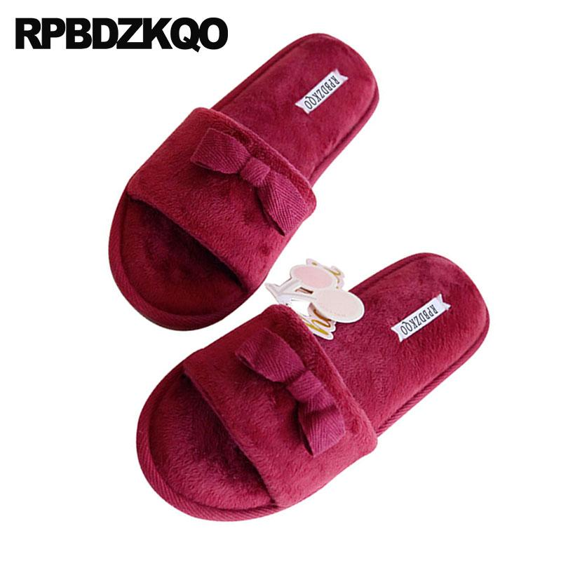 e64da4fd5 Shoes Cute Indoor Korean Bedroom Designer Women Chinese Home Bow Floor  Slides Slippers Slip On Most Popular Products Guest House Walking Boots  Womens Cowboy ...
