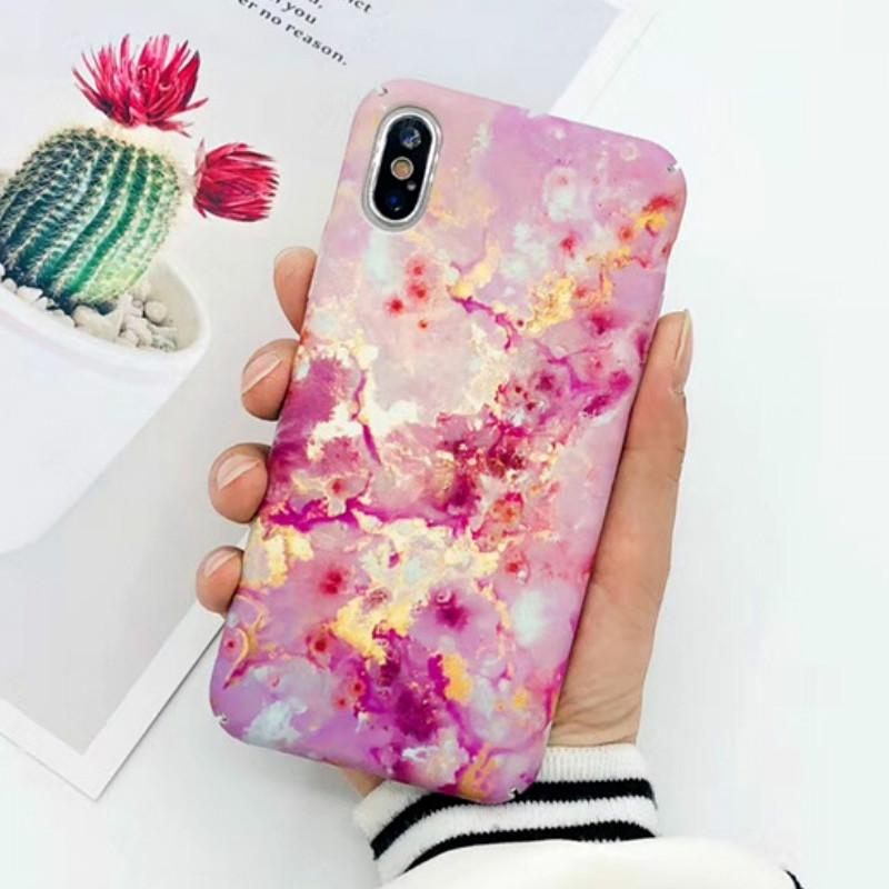 Luxury Designer 3D Shiny Rose Gold Marble Case Skin Cover for IPhone X XS 7 6 6s 8 Plus I Phone 8plus 7plus Cell Phone Hard Cases Shell