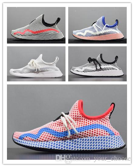 963fa2d42fc19 2019 2018 New SALE New Originals DEERUPT RUNNER Mans Shoes Weman Shoes  Deerupt CG6089 Women Mens Black Red White Running Shoes Size Eur 36 44.5  From ...