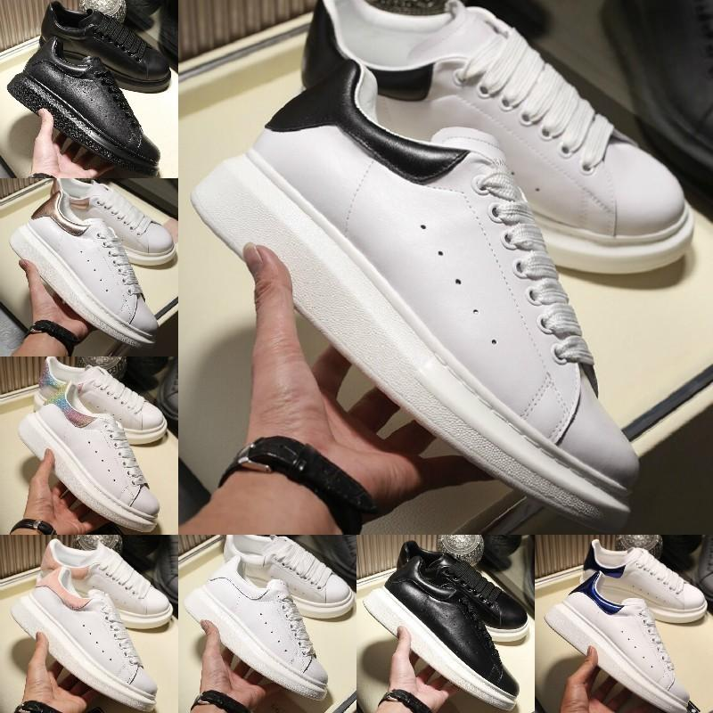 Sales 2019 Casual Walking Shoes Height Increasing Comfort Pretty Girl Black White Powder Leather Shoes Men Womens Fashion Casual Sneakers