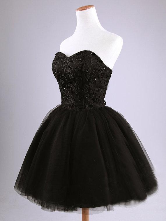 Vestidos negros para fiesta cortos
