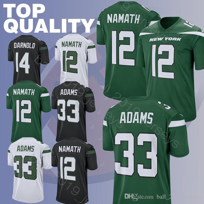 81eb7878a3c 2019 Jets 33 Jamal Adams Jersey 14 Sam Darnold 12 Joe Namath Jerseys 2019  New Hot Sale Football Jerseys From Ball_2019_jerseys, $26.95 | DHgate.Com