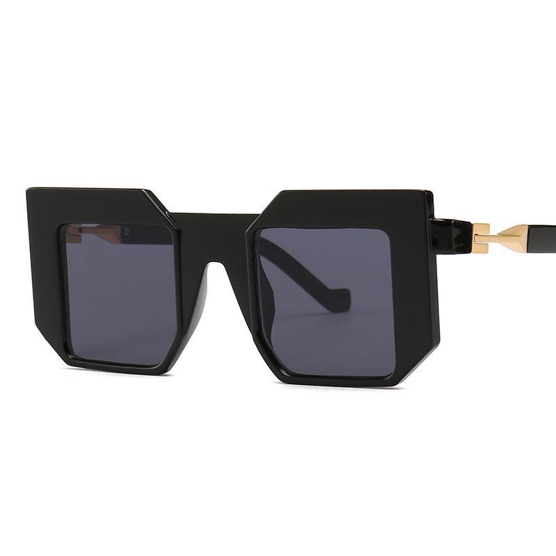0755787999 Compre Etiqueta Negra Gafas De Sol Geométricas Diseñador De La Marca Para Hombre  Gafas De Sol De Gran Tamaño Mujeres Gafas Punk Gafas De Sol Cuadradas ...